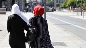 Muslimska kvinnor.