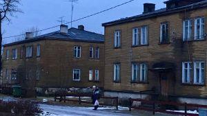 Våningshus i staden Rakke, Estland.