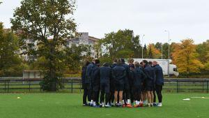 FC Inters lag på träning i Kuppis.