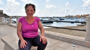 Italienaren Benedetta Costa på Lampedusa.