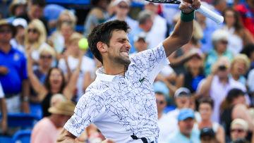 Novak Djokovic överlycklig över segern i Cincinnati.
