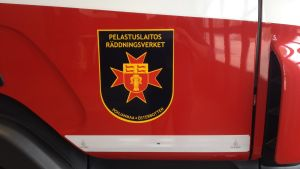 Brandbil från Österbottens räddningsverk.