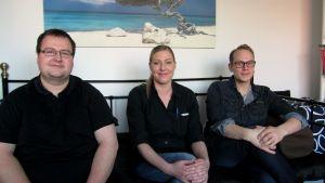 Nico Pousar, Marianna Liljendahl, Lasse Puonti