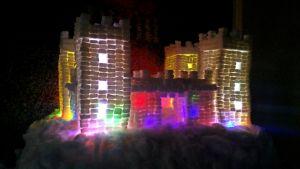 Slott av sockerbitar.