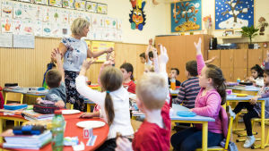 Skolklass i Ungern.