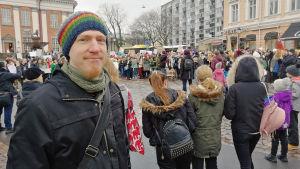 Patrik Hagman på Lilltroget i Åbo.