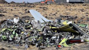 Det kraschade Boenig-flygplanet i Etiopien.
