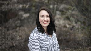 Yle Huvudstadsregionens reporter Charlotte Lindberg.