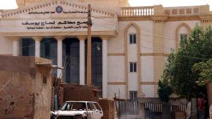 Huset där processen mot kvinnan hölls och där hon dömdes till döden.