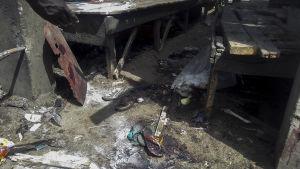 En bomb detonerade i staden Maiduguri i norra Nigeria i juni 2015.