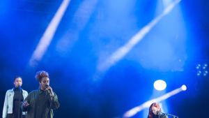 Seinabo Sey uppträder på Ruisrock 2016