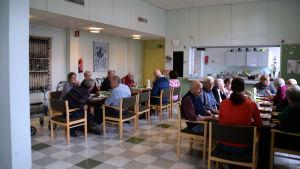 Matsalen på dagverksamheten i Ekenäs.