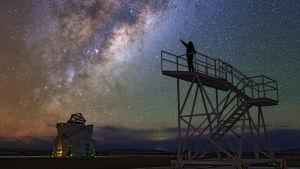 Utsikt från ESO:s teleskop i Paranal, Chile.