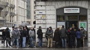 Schweizare köar till växlingskontor
