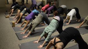 Yogaklass i USA