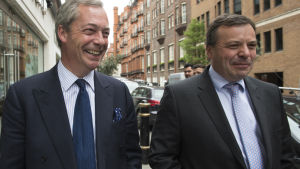 Nigel Farage och Arron Banks