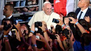 Påve Franciskus i Polen på World Youth Day juli 2016.