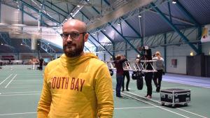Martin Enroth, verksamhetsledare för De ungas musikförbund i Svenskfinland (Dunk), är huvudarrangör av Skolmusik 2017.