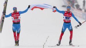 Aleksej Petuchov och Nikita Krjukov, VM 2013.