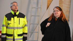 Söderkulla kyrka taklagsfest - kyrkoherde Helene Liljeström och arkitekt Juhani Aalto