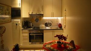 Kokvrån i en av lägenheterna i Villa Hannus