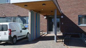 Fasaden till Nickby hälsocentral.