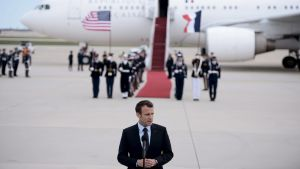 Emmanuel Macron på besök i USA 23.4.2018
