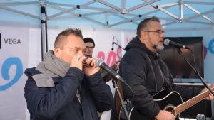 Fredrik Furu och Jack Vreeswijk på Näsdagen i Jakobstad 2018.