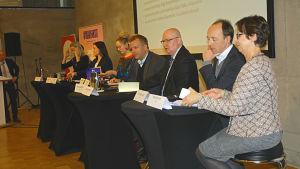 EU-valdebatt med deltagare från riksdagspartierna