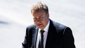 Kuvassa on Antti Kaikkonen, joka kuvattiin Säätytalolla Helsingissä 3. kesäkuuta 2020.