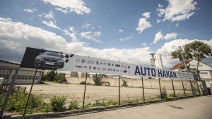 Parkeringsplatsen i Gerasdorf utanför Wien där Mamikhan Umarov dödades.