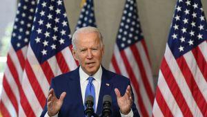 Joe Biden höll ett tal i Philadelphia, Pennsylvania på söndagen där han kommenterade HD-utnämningen.