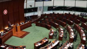 Hongkongs parlament inifrån.