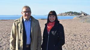 Denis Strandell och Marika Pulliainen