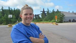 Alexandra Forsén jobbar som arbetsledare vid Koverhars gamla stålverk i Lappvik.