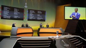 Europaligans lottning i Monaco den 25.8.2017.