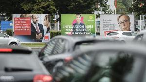 Valaffischer i Berlin inför det tyska förbundsdagsvalet i september 2017.