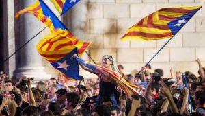 Katalonien firar att regionen deklarerats självständighet.