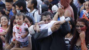 Zombier i alla åldrar deltog i paraden.