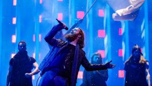 Danska Rasmussen på Eurovisionsscenen.