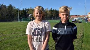 Nathalie Eriksson och Hampus Karell.