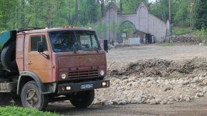Lastbil i Monreposparken