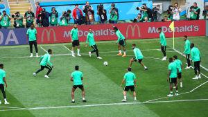 Saudiarabien tränar inför VM