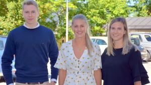 Tim Teirfolk, Erica Hjerpe och Saga Storbacka