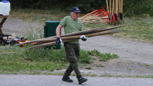 Aulis Soininen kunde hjälpa till med höstören som skulle fast i marken.