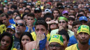 Besvikna brasilianska fans.