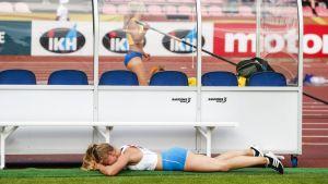 Saga Andersson i junior-VM 2018.