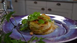 Portion med Kimchi kryddad kinakål med mandelris