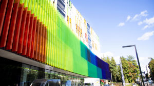 Utsidan på nya barnsjukhuset