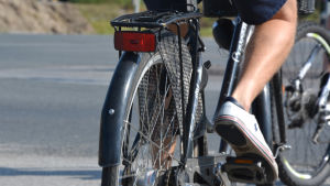 Närbild på en cykel